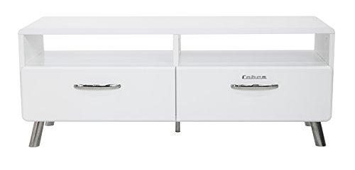 Tenzo 4942-001 Cobra Designer TV-Bank, 46 x 118 x 43 cm, MDF lackiert, weiß