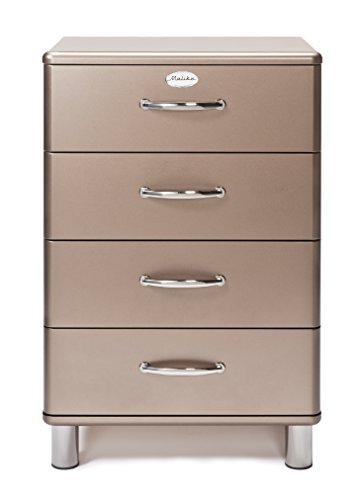 Tenzo 5016-088 Malibu Deluxe - Designer Kommode, bronze metallic, MDF lackiert, 92 x 60 x 41 cm