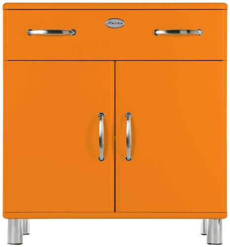 Tenzo 5127-017 Malibu - Designer Kommode 92 x 86 x 41 cm, MDF lackiert, orange