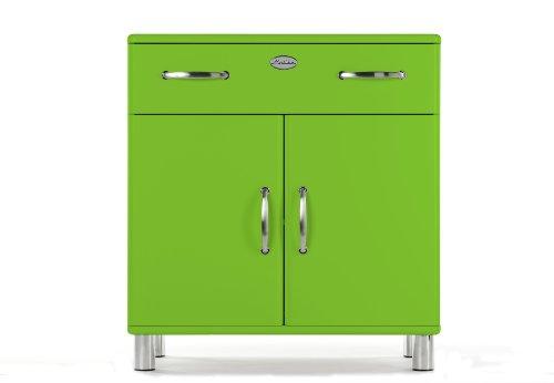 Tenzo 5127-021 Malibu, Designer Kommode, 92 x 86 x 41 cm, MDF lackiert, grün