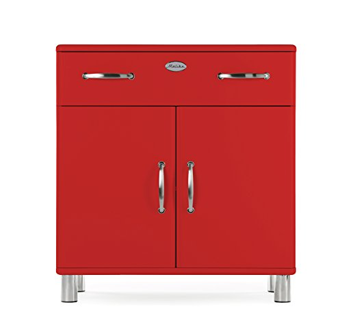 Tenzo 5127-028 Malibu Designer Kommode, MDF lackiert, 92 x 86 x 41 cm, rot