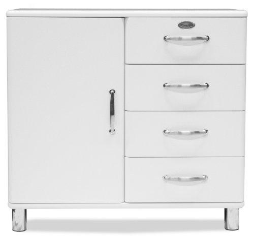 Tenzo-5235-005-Malibu-Designer-Kommode-Sideboard-92-x-98-x-41-cm-MDF-lackiert-wei-0