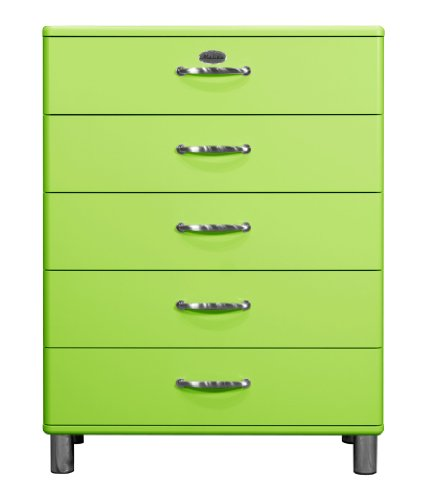 Tenzo 5295-021 Malibu - Designer Kommode, MDF lackiert, 111 x 86 x 41 cm, grün