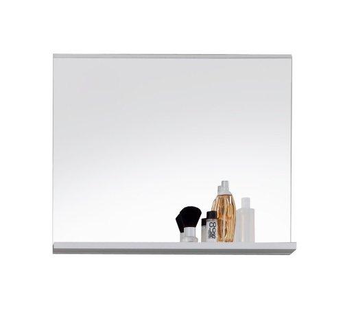 trendteam mz40101 badspiegel wandspiegel mit ablage weiss dekor glas bxhxt 60x50x10 cm m bel24. Black Bedroom Furniture Sets. Home Design Ideas