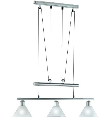 Trio-Leuchten 3751031-07 Jojo-Balkenpendel, 3xE14,max.40W, Nickel matt, Glas opal matt weiß