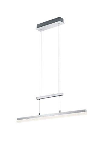 Trio Leuchten LED-Jojo-Pendelleuchte Calvaro, aluminium Gebrüstet, acryl weiß, 377690105