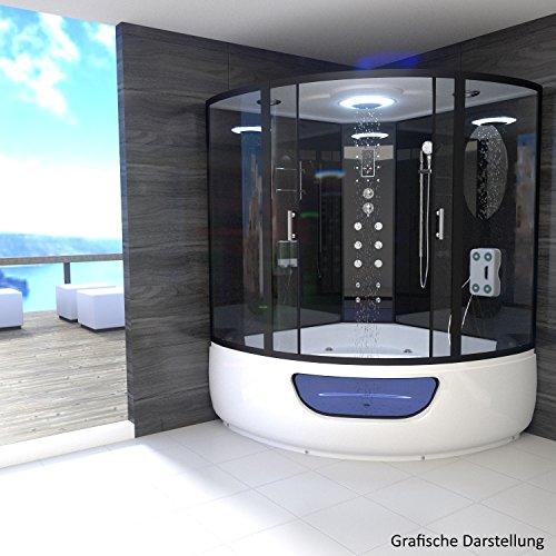 TroniTechnik-Dampfdusche-Duschtempel-Whirlpool-Badewanne-Komplettdusche-Duschkabine-Dusche-150x150-schwarz-0