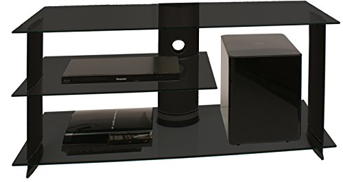"VCM 14205 TV-Möbel ""Subuso"" LCD Rack, LED Tisch, aluminium / glas / schwarz"