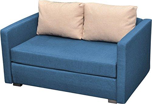 "VCM 900059 2-er Couch ""Engol"" Sofa mit Schlaffunktion, blau"
