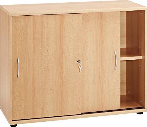 """VCM Sideboard Ordner Schrank Akten Büro Möbel Regal mit Schiebetüren """"Aktano 470"""" Universalschrank 76 x 100 x 40 cm"""