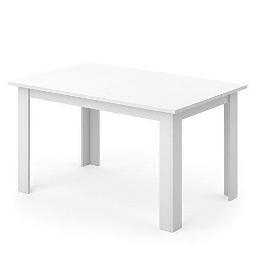 VICCO-Esstisch-KARLOS-140cm-Wei-Nussbaum-Esszimmertisch-Wohnzimmer-Kchentisch-mit-kratzfester-robuster-Melaminharz-Oberflche-0