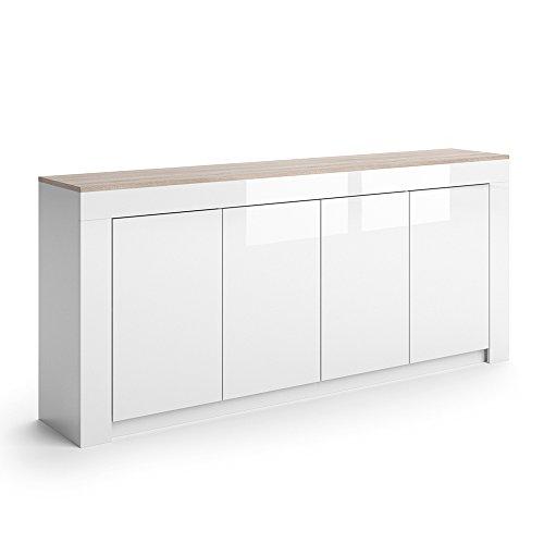 VICCO-Sideboard-ROMA-in-Wei-Hochglanz-190-cm-Kommode-Schrank-Anrichte-Diele-Flur-Highboard-Mehrzweckschrank-0