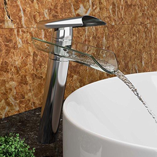 VILSTEIN-Waschtisch-Armatur-Einhebelmischer-Einhand-Wasserhahn-mit-Wasserfall-Effekt-Armatur-fr-Bad-Badezimmer-Aufsatz-Waschbecken-Verchromt-Glas-Auslauf-27cm-Standard-Anschluss-12-0