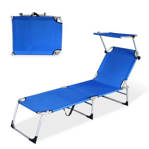 VINGOAlu-Gartenliege-Blau-Sonnenliege-Liegestuhl-Liege-klappbar-mit-Dach-189cm-0