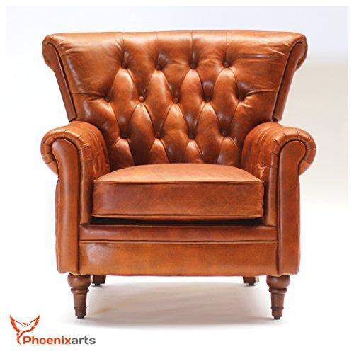 Vintage-Echtleder-Chesterfield-Ledersessel-Design-Lounge-Leder-Club-Sessel-Sofa-549-0