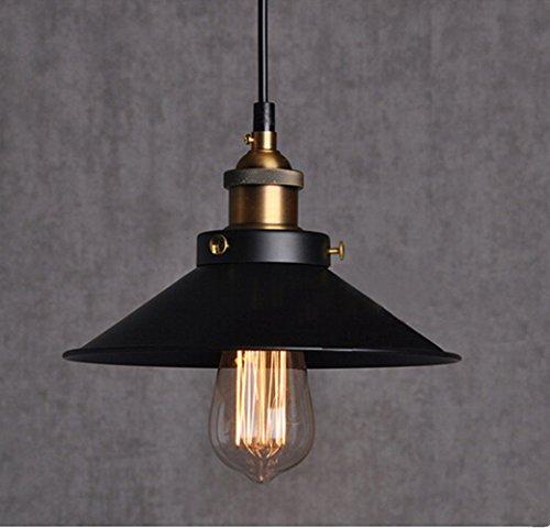 Vintage Retro Edison Loft Pendelleuchte, Retro Industrielle Deckenleuchte Lackiertem Eisen Regenschirm Lampenschirm Land-Art-Lampe