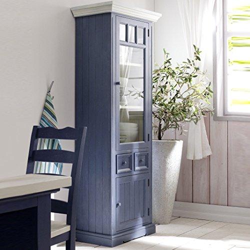 Vitrine-Landhausstil-Falun-Massivholz-in-wei-blau-Vintage-Style-Rechts-0