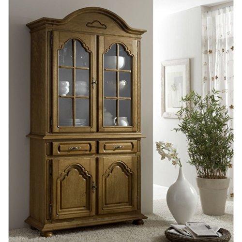 vitrinenschrank eiche massiv p43 wohnzimmerschrank konstanz pharao24 m bel24. Black Bedroom Furniture Sets. Home Design Ideas