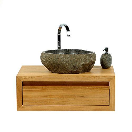 WOHNFREUDEN-Naturstein-Waschbecken-40-cm-OVAL-Stein-Aufsatzwaschbecken-fr-Gste-WC-Bad-einzeln-fotografiert-Auswahl-Steinwaschbecken-aus-Bildergalerie-Aufsatzwaschbecken-Stein-Granit-Findling-0