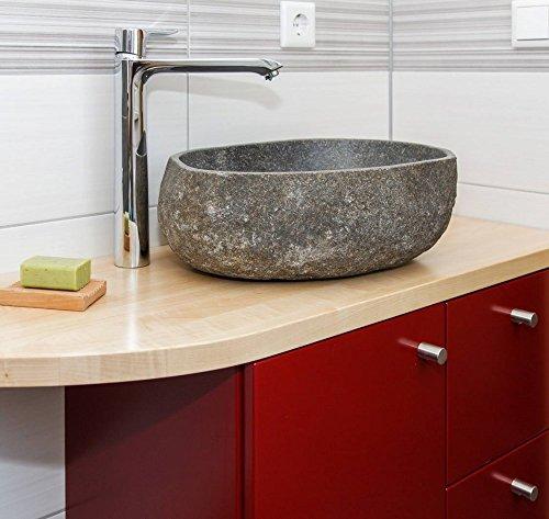 wohnfreuden naturstein waschbecken 40 cm aussen natur steinwaschbecken geeignet auch f r. Black Bedroom Furniture Sets. Home Design Ideas