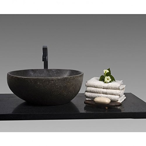 WOHNFREUDEN-n-Naturstein-Waschbecken-40-cm-RUND--Stein-Aufsatzwaschbecken-fr-Gste-WC-Bad--einzeln-fotografiert-Auswahl-Steinwaschbecken-aus-Bildergalerie--versandkostenfrei--0