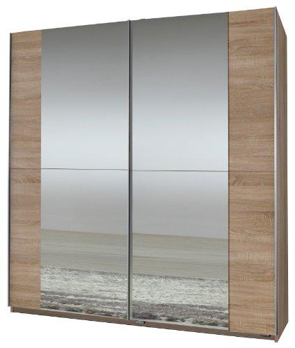 Wimex-006772-Schwebetrenschrank-198-x-180-x-64-cm-Eiche-sgerau-Nachbildung-2-Spiegel-0