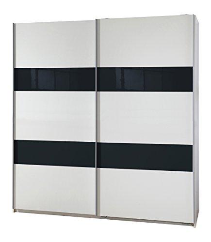 Wimex 027770 Schwebetürenschrank Front und Korpus, 135 x 198 x 64 cm, grey