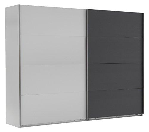 Wimex 507054 Schwebetürenschrank, 225 x 210 x 65 cm, alpinweiß / anthrazit