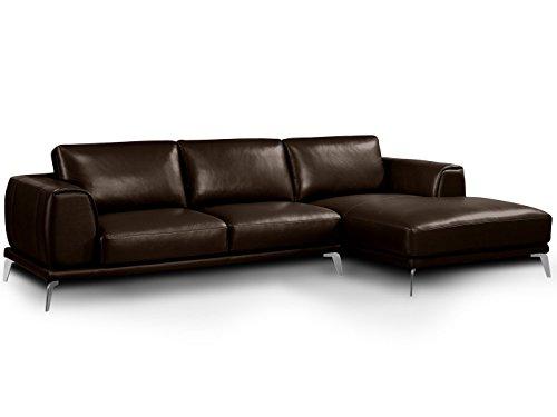 wohnlandschaft leder braun schoko nizza voll leder glattleder ledersofa polsterecke l form. Black Bedroom Furniture Sets. Home Design Ideas
