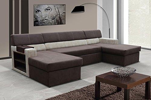 Wohnlandschaft Markos Eckcouch Ecksofa Sofa Couch mit Bettfunktion 01198
