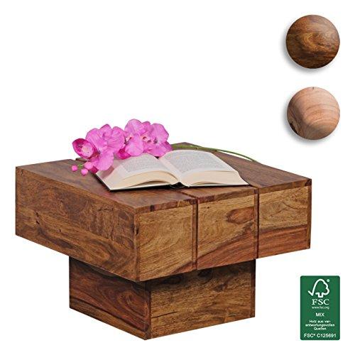finebuy couchtisch viereckig massivholz design wohnzimmertisch 44 x 44 cm quadrat 30 cm. Black Bedroom Furniture Sets. Home Design Ideas