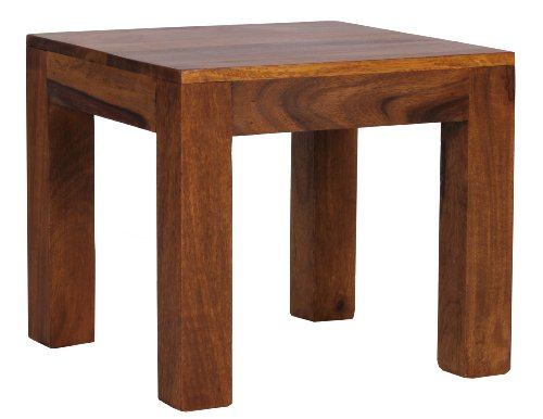 Wohnling WL1.204 Sheesham Couchtisch, 45 x 45 cm Massivholz