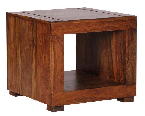 Wohnling WL1.216 Sheesham Couchtisch, 50 x 50 cm Massivholz