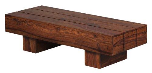 Wohnling WL1.325 Sheesham Couchtisch Massiv Massivholz 120 x 45 x 30 cm