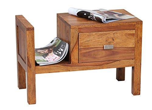Wohnling-WL1372-Sheesham-Massivholz-Nachtkonsole-mit-Schublade-und-Zeitungsablage-60-x-30-x-40-cm-0