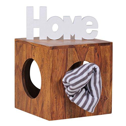 Wohnling-WL1560-Sheesham-Massivholz-Beistelltisch-Cube-35-x-35-cm-0