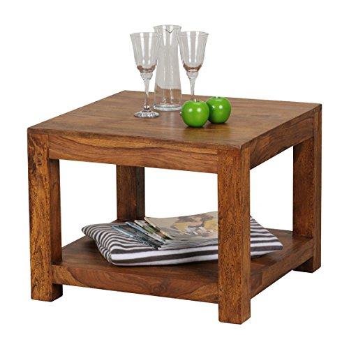wohnling massivholz sheesham couchtisch 60 x 60 x 45 cm m bel24. Black Bedroom Furniture Sets. Home Design Ideas