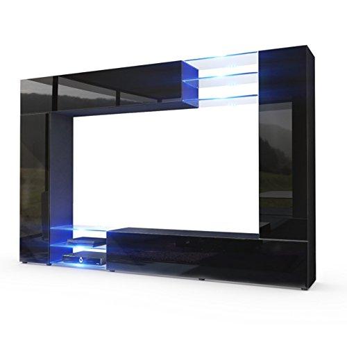 in schwarz matt fronten in schwarz hochglanz inkl led beleuchtung 0. Black Bedroom Furniture Sets. Home Design Ideas