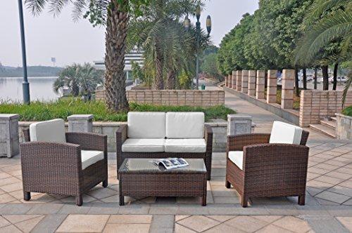 XINRO-13tlg-Deluxe-Lounge-Mbel-Set-Gruppe-Garnitur-Gartenmbel-Lounge-Set-Rattan-Polyrattan-Sitzgruppe-inkl-Lounge-Sofa-Sessel-Tisch-Glasplatte-mit-Kissen-InOutdoor-handgeflochten-braun-0