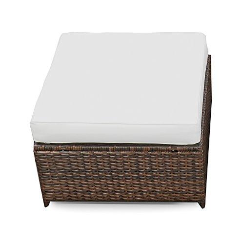XINRO-1er-Polyrattan-Lounge-Hocker-Gartenmbel-Hocker-Rattan-durch-andere-Polyrattan-Lounge-Gartenmbel-Elemente-erweiterbar-InOutdoor-handgeflochten-braun-0