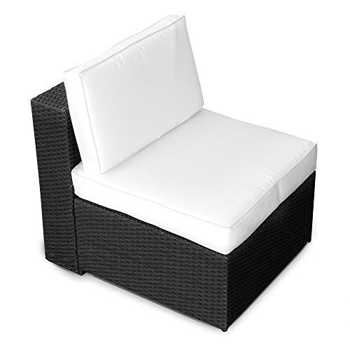 XINRO-1er-Polyrattan-Lounge-Sessel-Mittelteil-Gartenmbel-Polyrattan-Sessel-durch-andere-Polyrattan-Lounge-Gartenmbel-Elemente-erweiterbar-InOutdoor-handgeflochten-schwarz-0