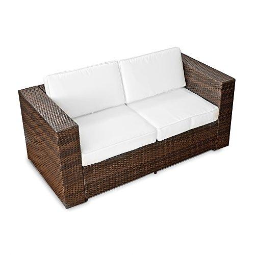 XINRO-2er-Polyrattan-Lounge-Sofa-Gartenmbel-Couch-Bank-Rattan-durch-andere-Polyrattan-Lounge-Gartenmbel-Elemente-erweiterbar-InOutdoor-handgeflochten-braun-0