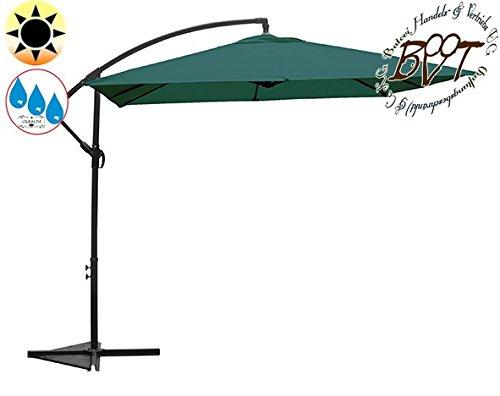 XXL Ampelschirm 2,50 m x 2,50 m, 8-teilig, 8 Streben, viereckig 2,50 x 2,50 m, moosgrün / grau, robustes ca. 200 g/m² Polyester, Sonnenschirm UV50+ KOMPLETT mit Standkreuz, Standfuß + ca. 50 mm Mast, grau, Überdach, Schirm Strandschirm, stabiler Gartenschirm, klappbarer Sonnenschirm - dunkelgrau, hell dunkel, grauer Strandschirm, Sonnendach Regendach Vordach-Rädern, Klappschirm mit weichem Stoffbezug-extrem wetterfest, tragbar, Strandschirm, hochwertig robust stabil