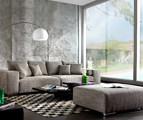 XXL-Couch-Marbeya-Hellgrau-280x115-inklusive-Hocker-Big-Sofa-0