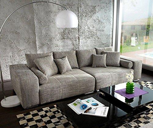 XXL-Couch-Marbeya-Hellgrau-280x115-inklusive-Kissen-Big-Sofa-0