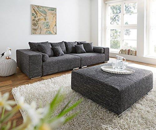 XXL-Couch-Marbeya-Schwarz-280x115-cm-inklusive-Hocker-Big-Sofa-0
