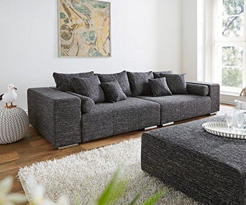 XXL-Couch-Marbeya-Schwarz-280x115-inklusive-Kissen-Big-Sofa-0