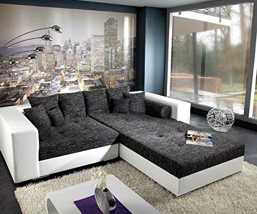 XXL-Sofa-Marlen-Schwarz-Weiss-300x140-inklusive-Hocker-Bigsofa-0