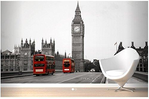 Yosot Benutzerdefinierte Retro Tapeten Schwarz Und Weiß Big Ben 3D Wandbilder Für Sofa Wohnzimmer Schlafzimmer Flur Hintergrundbild Wandbild