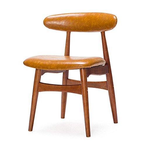 ZHIRONG-Stuhl-Nordic-Retro-Massivholz-Restaurant-Hocker-Komfortable-Rckenlehne-Freizeit-Stuhl-0